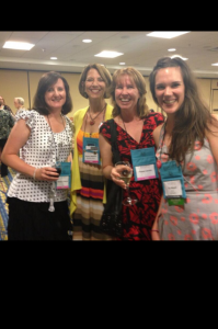 Me on the left with Barbara Wallace, Aimee Carson, and our editor, Flo Nicoll.