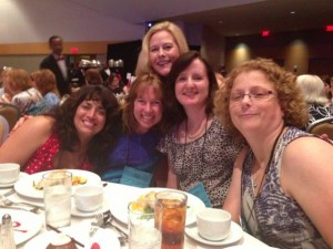 Lunch with Jennifer Probst (left), Aimee Carson, Christine Glover (back), me, and Abbi Wilder.
